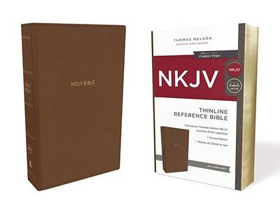 NKJV, Thinline Reference Bible, Imitation Leather, Tan, Red Letter Edition, Comfort Print