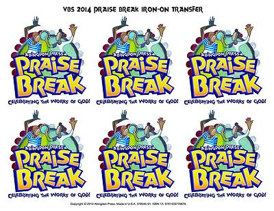 Vacation Bible School (VBS) 2014 Praise Break Iron-On Transfers (Pkg of 12)