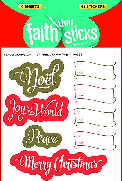 Christmas Sticky Tags (Package of 10)