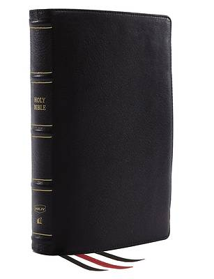 Picture of Nkjv, Reference Bible, Classic Verse-By-Verse, Center-Column, Genuine Leather, Black, Red Letter, Comfort Print