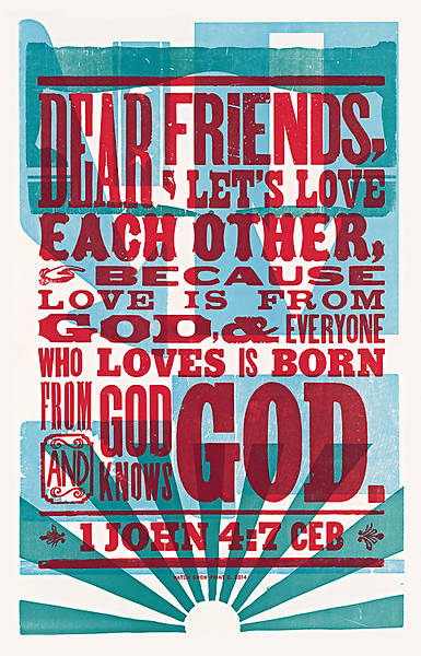 Picture of Love is From God Common English Bible Poster