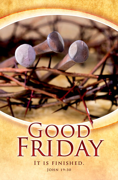 Picture of It Is Finished Good Friday Regular Size Bulletin