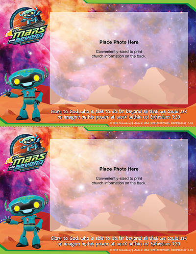 Vacation Bible School (VBS) 2019 To Mars and Beyond Follow-Up Photo Frames (Pkg of 48)