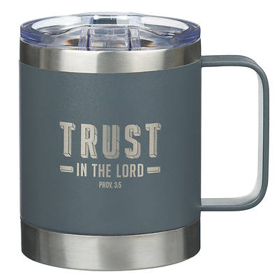 Picture of Stainless Steel Mug Trust in the Lord Proverbs 3