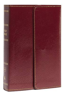 Picture of KJV, Reference Bible, Compact, Large Print, Snapflap Leather-Look, Burgundy, Red Letter Edition