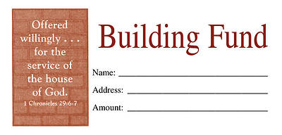 Picture of Building Fund Envelope Pack of 100