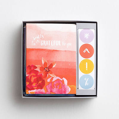 Picture of Uniquely Created Boxed Cards Assorted With Stickers (Box 16 Premium)