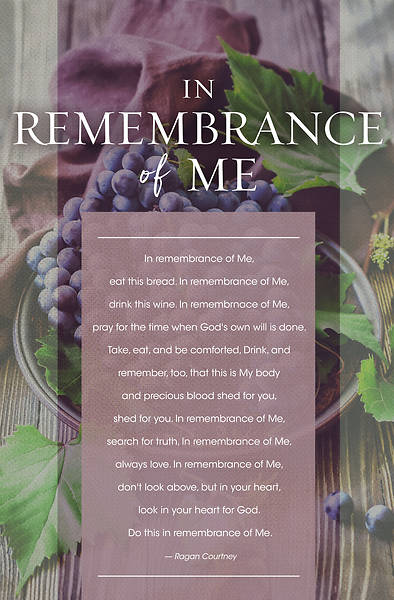 Picture of In Remembrance Of Me Communion Bulletin Pkg of 100
