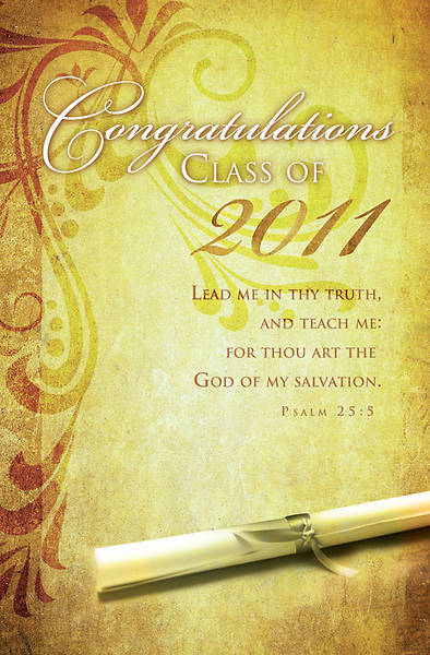 Graduation/Psalm 25:5 Bulletin, Regular (Package of 100)