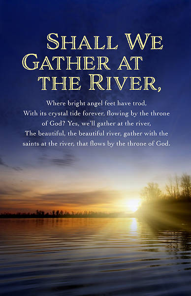 Gather At The River Funeral Regular Size Bulletin