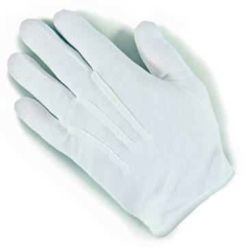 Plastic Dot Handbell White Xlarge Gloves