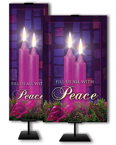 Fill Us All With Peace Advent 3x 5 Banner