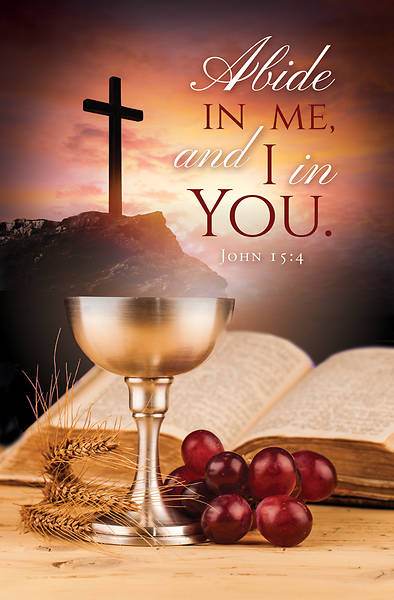 Picture of Abide in Me Communion Regular Size Bulletin