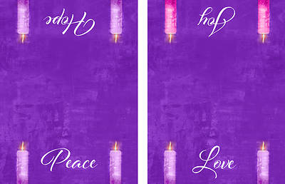 Picture of Four Sided Advent Candles Altar Cloth - Purple