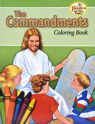 Coloring Book about the Commandments
