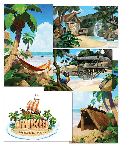 Vacation Bible School (VBS) 2018 Shipwrecked Giant Decorating Poster Pack - Set of 5
