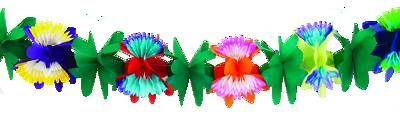 Picture of Vacation Bible School VBS 2021 Rainforest Tissue Flower Garland 9' x 3""