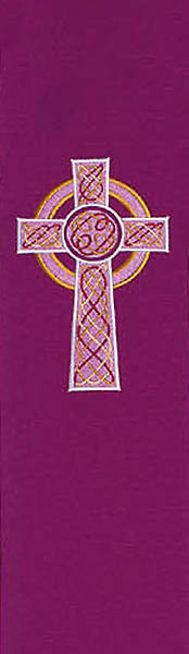 Celtic Cross 8700 Series Purple Stole