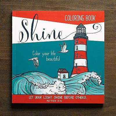 Picture of Adult Coloring Book Shine
