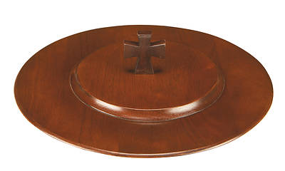Maple Communion Tray Cover - Walnut Finish