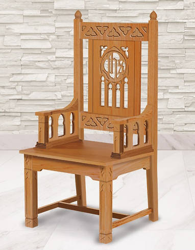 Picture of Florentine Collection Celebrant Chair - Medium Oak Stain