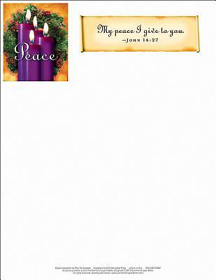 Advent Purple Letterhead (Pkg of 50)