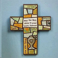 First Communion Mosaic Cross