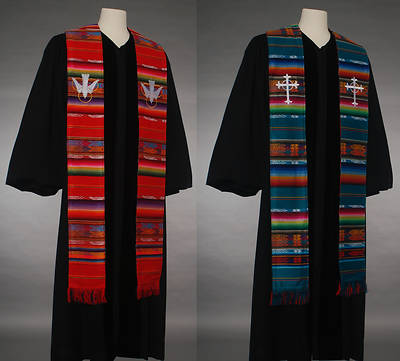 Fair Trade Green Red Reversible Stole