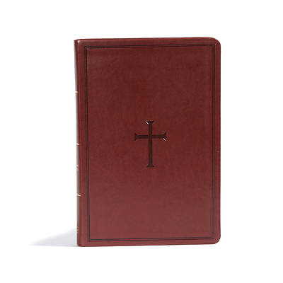CSB Giant Print Reference Bible, Brown Leathertouch, Indexed