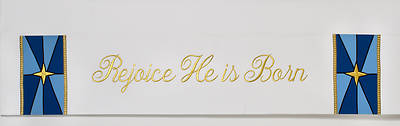 Word Series White Christmas Altar Frontal