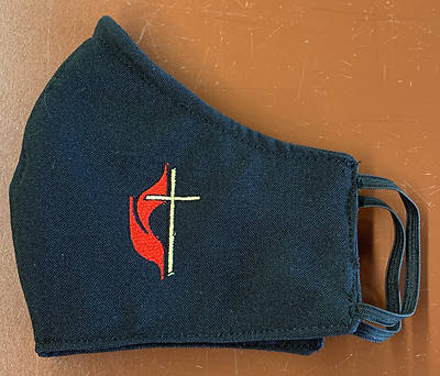 Picture of Cross and Flame Black Face Mask - Small Size