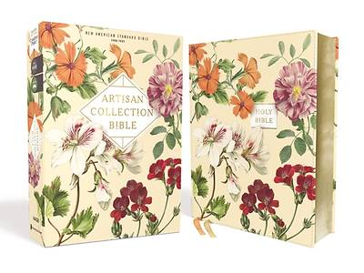Picture of Nasb, Artisan Collection Bible, Leathersoft, Almond Floral, Red Letter Edition, 1995 Text, Comfort Print