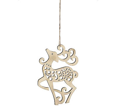 Flourish Reindeer Hanging Ornament