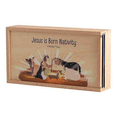 Picture of Jesus is Born Wooden Bible Box Nativity Set
