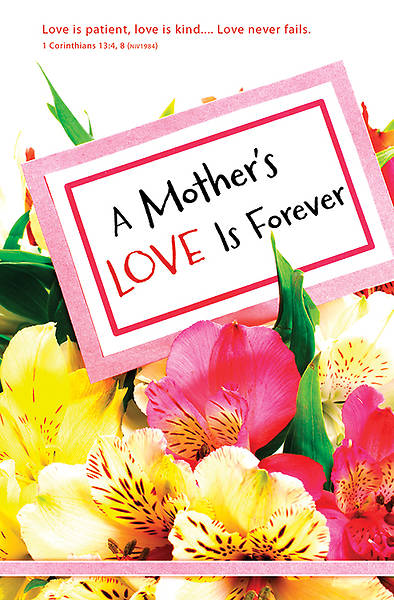 A Mothers Love Mothers Day Regular Size Bulletin, Package of 100