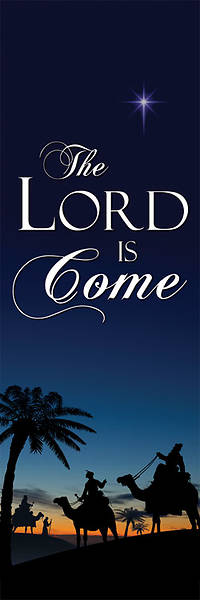 Nativity Series Lord is Come Banner 2 x 6