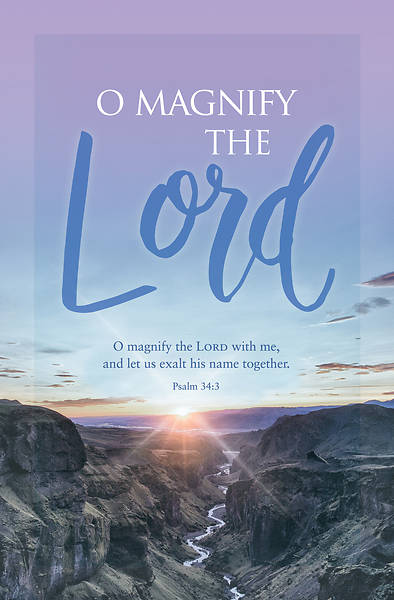 Magnify The Lord General Regular Size Bulletin Cokesbury