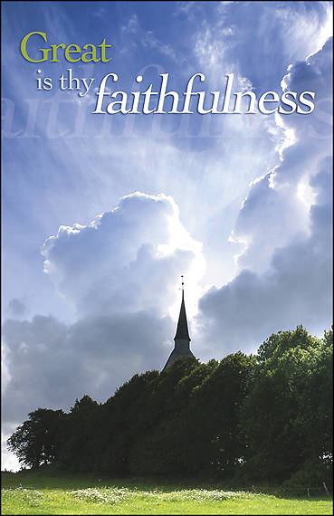 Picture of Great Is Thy Faithfulness Bulletin - Pack of 100
