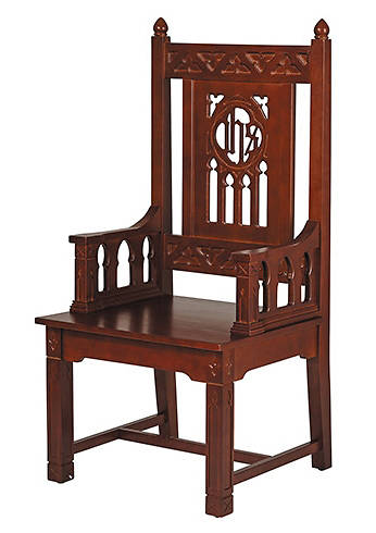 Picture of Florentine Collection Celebrant Chair - Walnut Stain