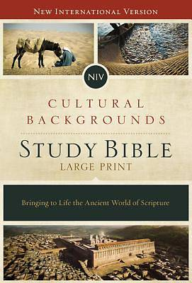 Picture of NIV, Cultural Backgrounds Study Bible, Large Print, Hardcover, Red Letter Edition