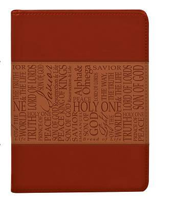 Picture of Tan Names of Jesus Luxleather Journal