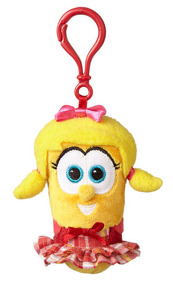 VeggieTales Laura the Carrot Backpack Clip