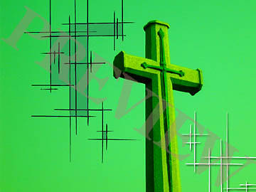 Download Still Cross Green Etching