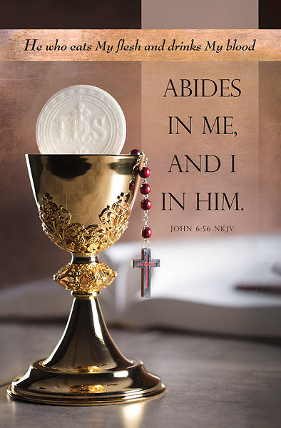 Picture of Abides in Me and I in Him Communion Regular Size Bulletin (Pkg of 100)