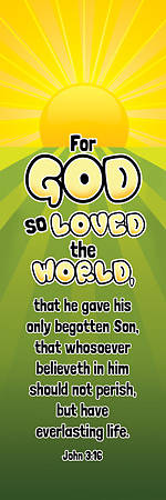 For God So Loved the World Kids Bookmark