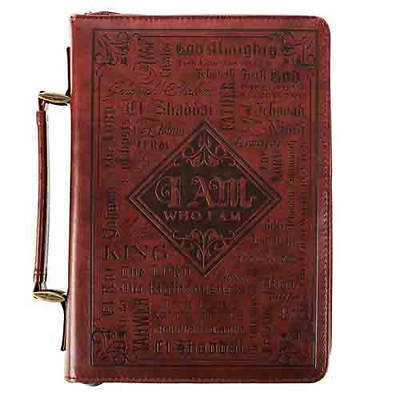 Picture of Bible Cover Lux-Leather Names Large