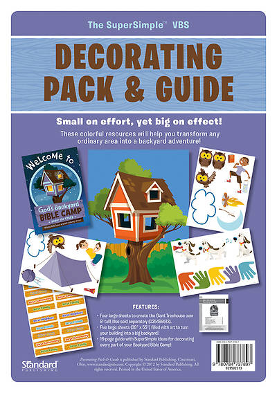 Standard Vacation Bible School 2013 Gods Backyard Bible Camp Stars Decorating Pack and Guide