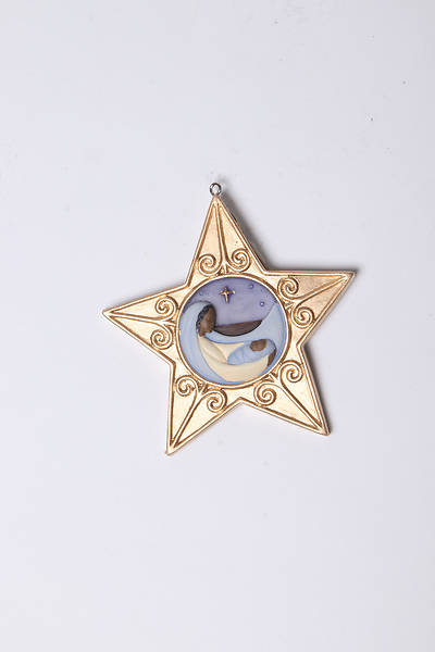 Flat-Style Resin Star Ornament