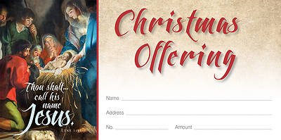 Picture of Call His Name Jesus Old Master Art Christmas Offering Envelope