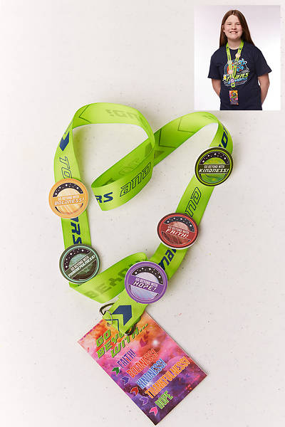 Vacation Bible School (VBS) To Mars and Beyond Scripture Treasure - Mission Badge Lanyard (Pkg of 12)